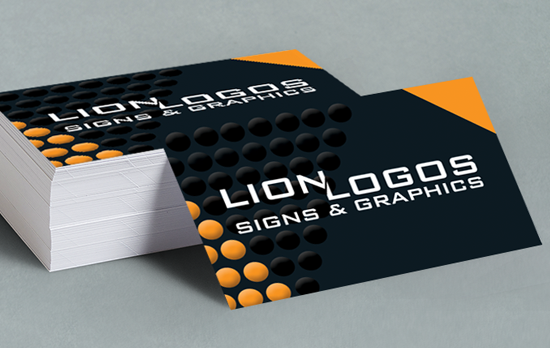 Business cards designed, 450gsm, matt or gloss laminated FROM £35 for 250 qty.