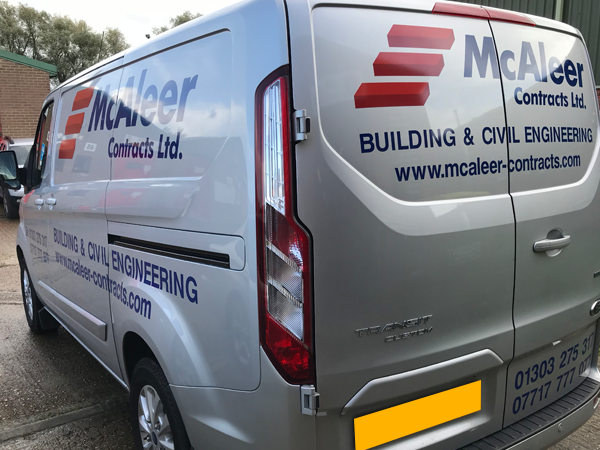 Based in Ashford, Kent. We can supply and install your vehicle graphics at our premises or come to you